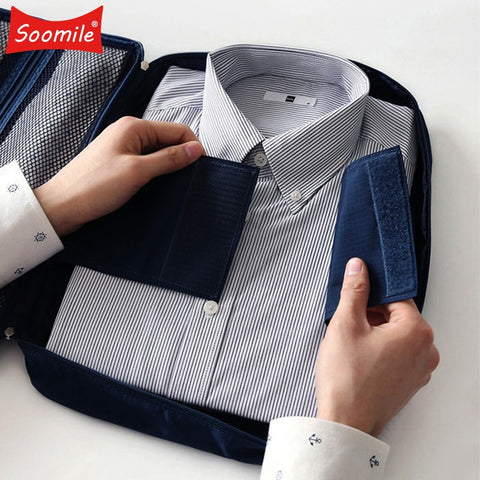 Soomile 2018 High quality Men Multi function Travel bag Fashion Duffel Organizer For tieShirt and Necktie