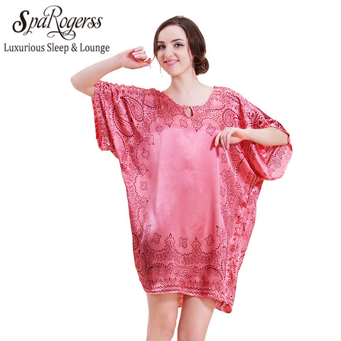 2787a13cd5 SpaRogerss Top Fashion Summer Style Bath Robe Large 3XL Sleepwear For Women  Lounge Mother Plus Size