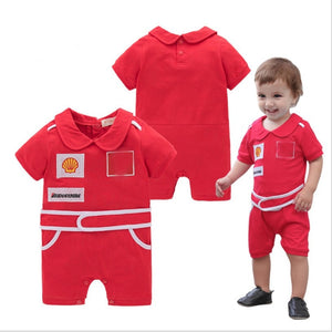 Special Offer~Simple Style Lovely Belt Decorated Red Baby Jumpsuits/Boy Romper 3071