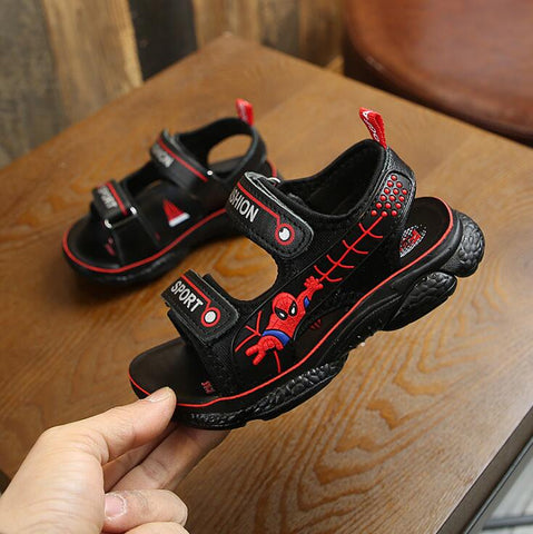 Spider-Man Boys Casual Beach Shoes Soft Girls Children Sandals Summer Children's Shoes Children's Leather Sandals Kids - thefashionique