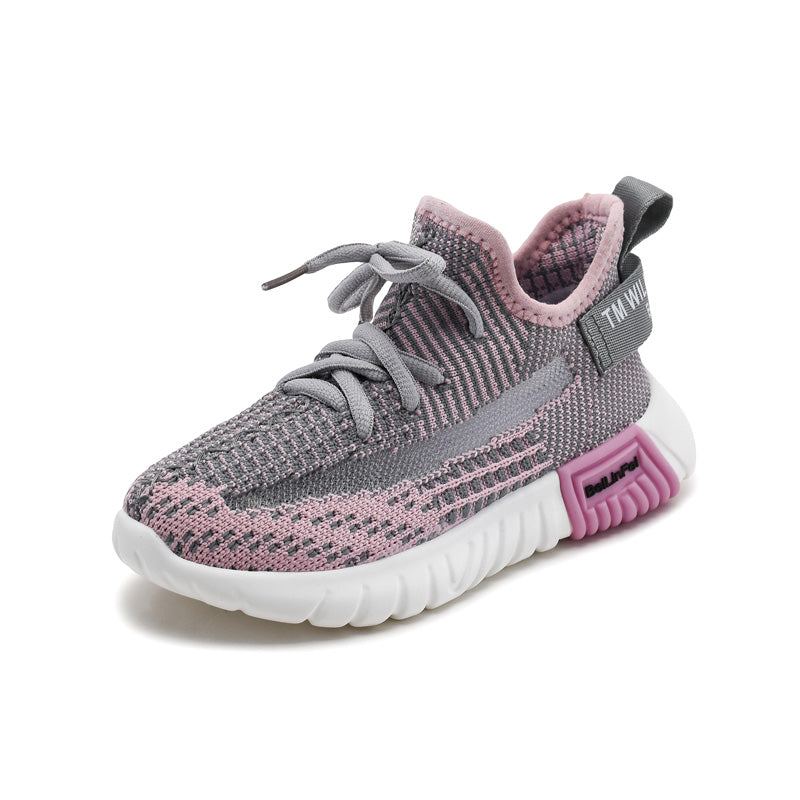 Spring 2019 Girls Boys Hot Mesh Sneakers Baby/Toddler/Little/Big Kid Knitted Lightweight Trainers Children Causal School Shoes - thefashionique