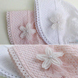 Spring Cap Summer Sweet Princess Hollow Baby Girls Hat Lace-up Beanie Cotton Bonnet Enfant Kids Flower Beanie Lace Floral Cap - thefashionique