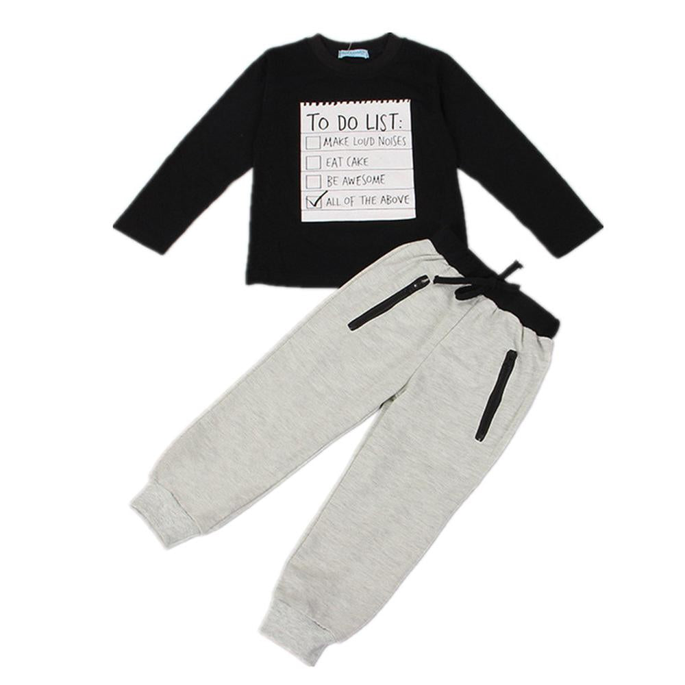 Spring Fashion Baby Boy Clothing Sets Long Sleeve T-shirt+Pants Children Tracksuit for 3 4 5 6 7 8 Years Toddler Kids Clothes - thefashionique