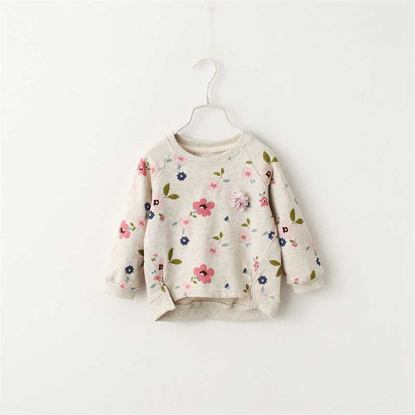 Spring Girls Sweater Children's Sweatshirts Casual Kids Velvet Tops Costume Long Sleeve T-shirt Jerseys Baby Kids Clothes - thefashionique