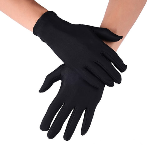 Spring and Summer Men's Elastic Spandex Gloves Black White Brist Gloves Short Men's Driving Gloves Working Gloves Guantes Hombre - thefashionique