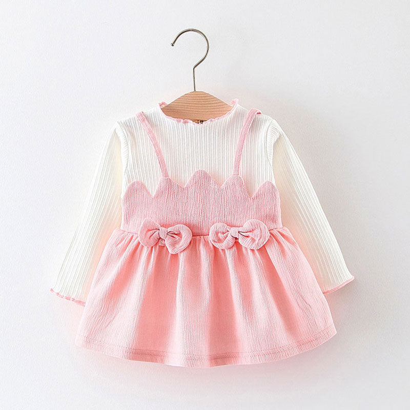 Spring fall baby girl clothes dresses 1 year girl baby birthday dress for newborn long sleeve grid baby girls clothing dress - thefashionique