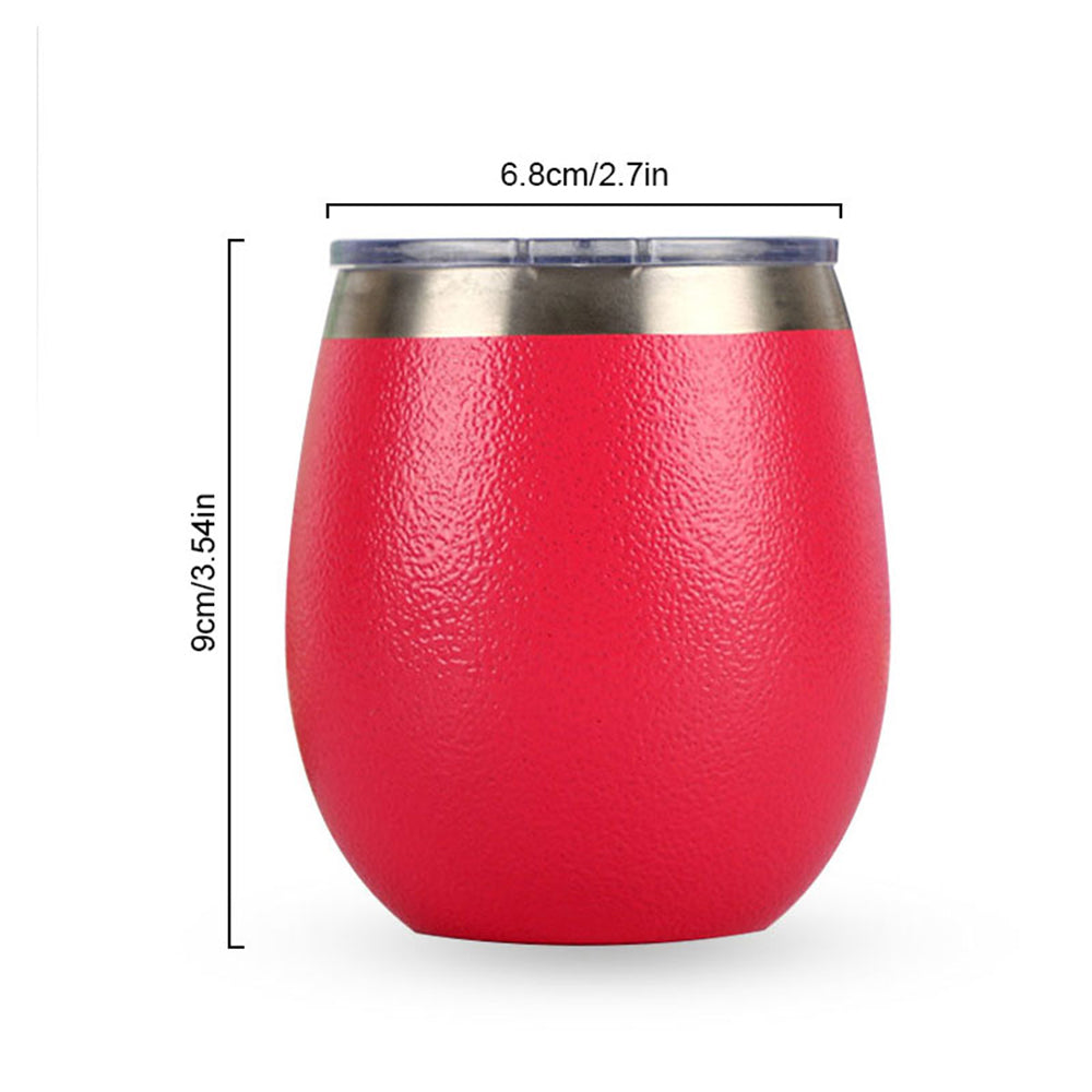 Stainless Steel Double Red Wine Cup Heat Preservation Milk Cup Anti Scalding Coffee Eggshell Glass Beer Cup - thefashionique