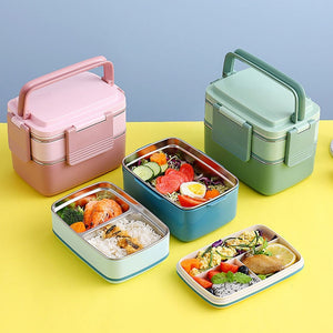 Stainless Steel Lunch Box Food Container For Kids School Children Portable Fiambrera Acero Inoxidable 3 Layer Japanese Bento Box