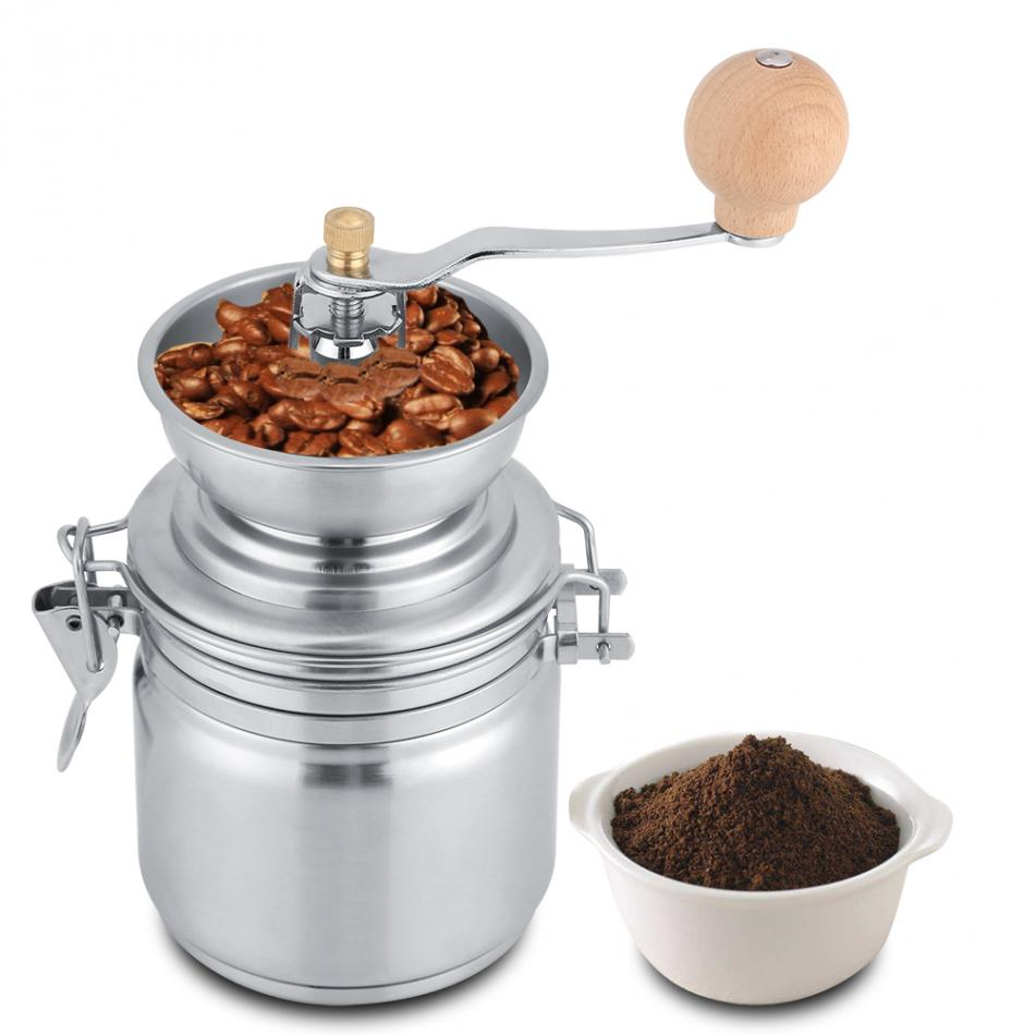 Stainless Steel Manual Coffee Grinder Spice Grinding Mill Hand Tool Home Grinder Milling Machine Coffee Accessories - thefashionique