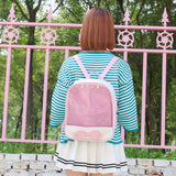 Student Clear Bag Transparent Itabag Pin Display Backpack School Bags Kids Backpack - thefashionique
