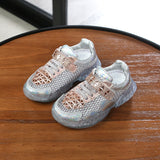 Summer 2019 New Girl Sandals rhinestone Net cloth Sports school boys Soft-soled Children's Mesh Beach Shoes 1-3 years old - thefashionique