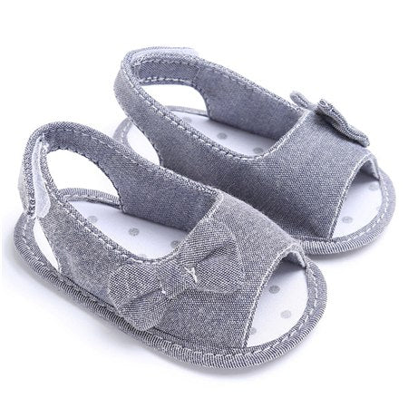 Summer Baby Girl Bowknot Garden Sandals Newborn Casual Outdoor Princess Casual Shoes Sneaker Anti-slip Soft Sole 0~12 Month - thefashionique