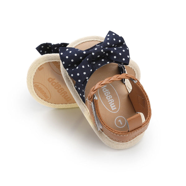 Summer Baby Girls Kids Toddler newborn Hollow Princess Geometry Bow Shoes casual Beach Sandals one pairs - thefashionique