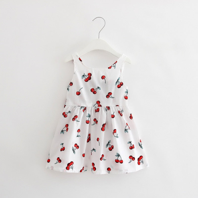 Summer Baby Kid Cotton Vest Dress Princess Girls Dresses Newborn Infant Sundress Clothes Cute Flower Vestidos Bebes Floral Print - thefashionique