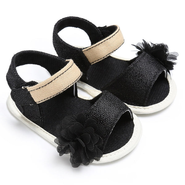 Summer Beach Princess Style Girls Baby Shoes Kids Candy Color Cute Flower Anti-skid Casual  Sandal - thefashionique