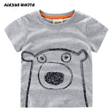 Summer Children T Shirts Cotton Short Sleeve Kids T-shirt Printed Tees For Boys Girls Top Cartoon Bear Printed Baby Clothing - thefashionique