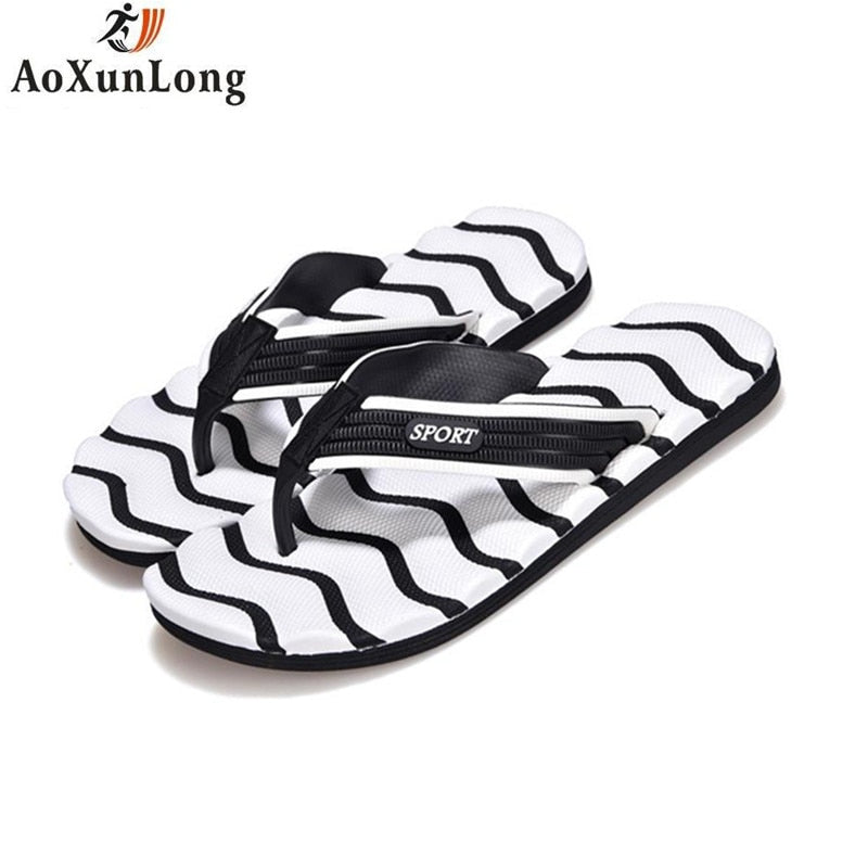 Summer Fashion Men's Flip Flops Outdoor Beach Bathing Indoor Leisure Toe Comfortable Sandals Men's Slippers Big Size 40-45 11 10 - thefashionique