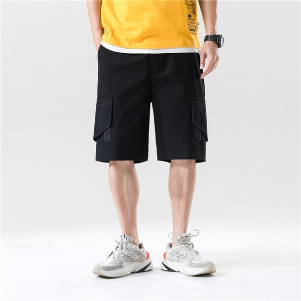 Summer Men Camouflage Pocket Patch Hip Hop Cargo Short Cargo Pants Men Cotton Harajuku Fashion Casual Loose Streetwear Short Men - thefashionique