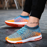 Summer Men Shoe Rainbow Colors Lac-up Mesh Men Casual Shoes Lightweight Comfortable Breathable Walking Sneakers Feminino Zapatos