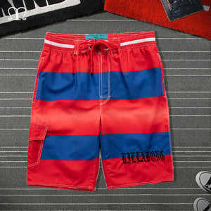 Summer Shorts Men Striped Fitnes Cargo Short homme Big Size Casual Beach Shorts Mens Boardshorts Elastic Waist Bermuda Masculina