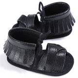 Summer Tassel Baby Shoes Soft Non-slip Crib Shoes Moccasin Sandal Baby Girls Sandals 0-18M - thefashionique
