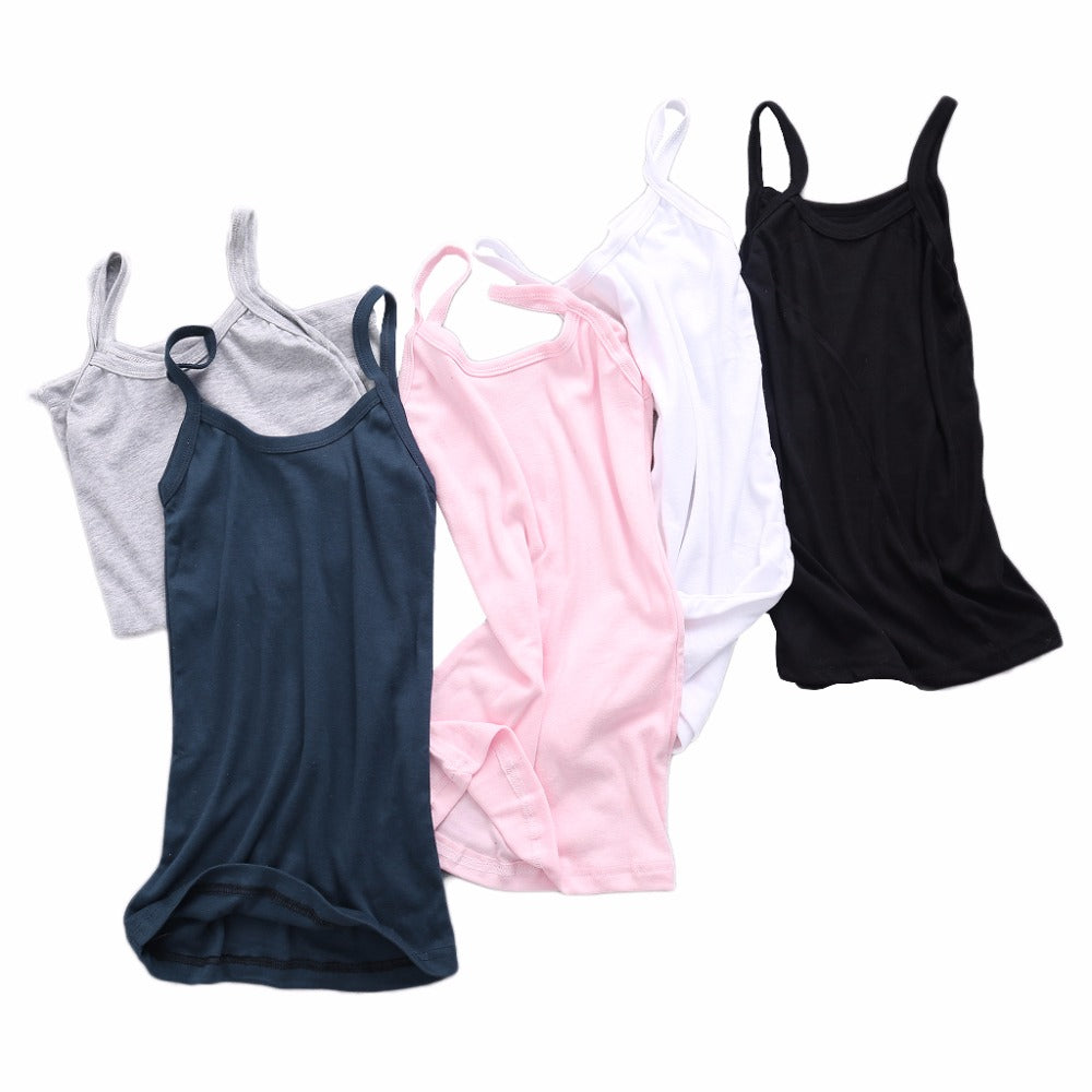 Summer Vest Sexy Women Plain Camisole U-neck Vest Stretchable Backless Slim Sling Tank Tops New 2018 Free Shipping - thefashionique