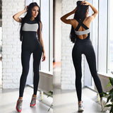 Summer Women Bandage Rompers Bodysuit Overalls Tracksuit Gyms Fitness Bodycon Strapless Jumpsuit Backless Woman Playsuit - thefashionique