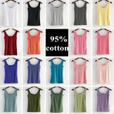 Summer Women Cotton Tank Tops Ladies Camisole Slim Vest Casual fashion Sleeveless tank T Shirt Basic Cami Blusas Vests - thefashionique