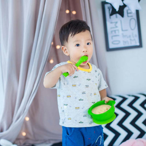 Super Soft 2018 NEW Slip-resistant Wall Suction Child Tableware Baby Kids Sucker Dishes Gravity Bowl Set - thefashionique