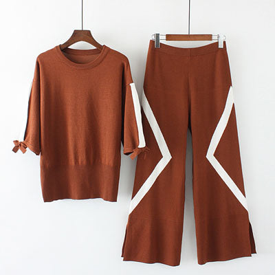 Sweater Sets Womens Knitted Set Plus Size Two Piece Suits Cashmere Swe