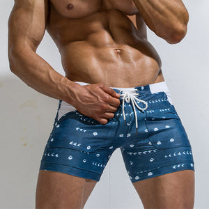 Swimming Trunks For Men Swimwear Swimming Shorts Elastic Swimsuit Men Bathing Suit Beach Surf Sexy Gay Short Pants Boxer Briefs