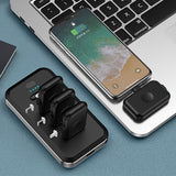 TOPZERO 4PCS Mini Magnetic Power bank Emergency Finger Poverbank Type C Micro External  Battery For iPhone 11 Pro With LED Light