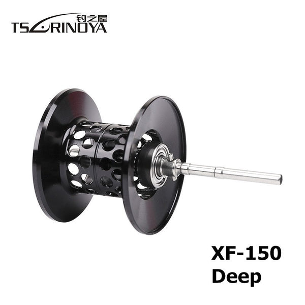 TSURINOYA XF50/XF150 Casting Reel Spare Spool Shallow/Deep Aluminum Alloy Light Weight Lure Reels Rechange Spool Accessories - thefashionique