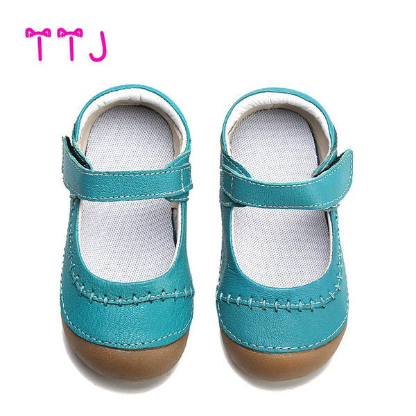 TTJ girls shoes genuine leather black mary jane with children mark line shoes good quality stock little kids beautiful shoes - thefashionique