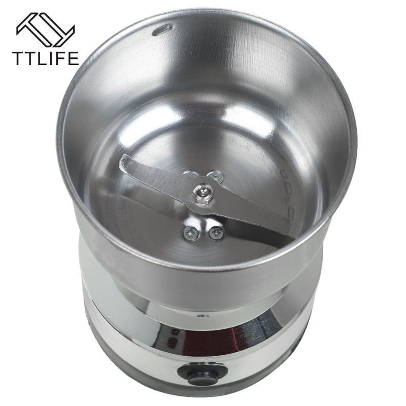 TTLIFE Coffee Beans Nuts Grinder Mill Coffee Grinder Electric Coffee Grinder Home Kitchen Grinding Tool Stainless Steel Blades - thefashionique