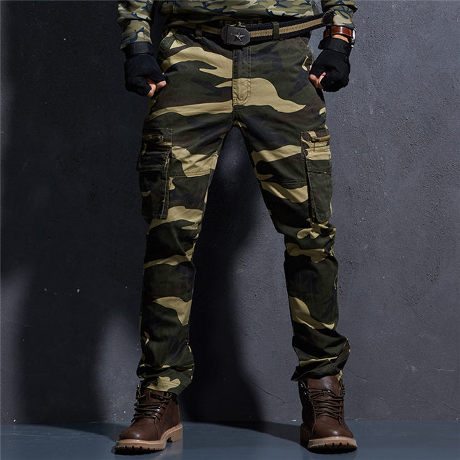 d75ba16669ad1 Tactical Camo Pants Mens Military Style Cargo Pants Army Camouflage St
