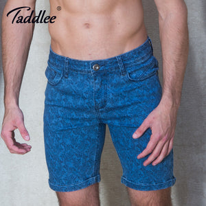 Taddlee Brand Fashion Men Shorts Cotton Jeans Style Zipper Clothing Sweat Shorts Slim Fit Cargo Khaki Denim Knee Length Trunk