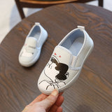 Teenster Toddler Kids Shoes Casual Plimsolls Cartoon Printed School Big Boy Shoes for Little Girls Children Sneakers Boys - thefashionique