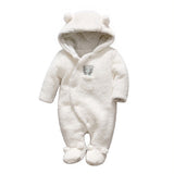 Tender Babies Newborn baby clothes bear baby girl boy rompers hooded plush jumpsuit winter overalls for kids roupa menina - thefashionique
