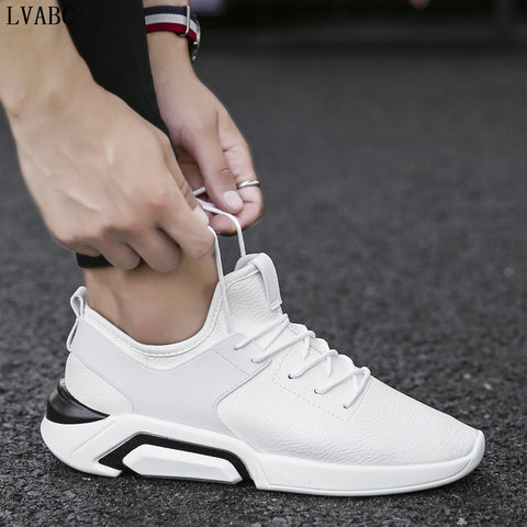The 2018 Summer Trend Of White Shoes Increased In White Men's Vulcanized Shoes Breathable Wear Non Slip