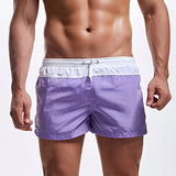 Thin Light Mens Swimming Shorts For Men Swim Trunks AQUX Swimwear Sexy Boxer Briefs Man Swimsuit Beach Bathing Suit Quick Drying