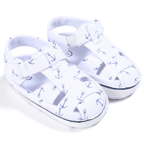 Toddler kids Anchor Sandals Baby Boy Girl Summer Sandals Infant Crib Shoes Prewalker 0-18 Months - thefashionique