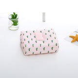 Travel Duffel Packing Cubes Women Travel Bag Print Flower Waterproof Comestic Organizer Functional Makeup Wash Pouch Accessories - thefashionique