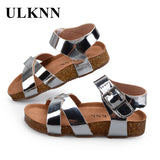 ULKNN Boys Girls Sandals Shoes For Children Gladiator Glitter PU leather  Beach School Shoes 2018 New Roman sandals girl boy - thefashionique