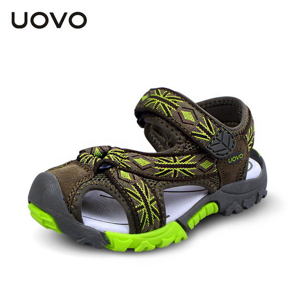 UOVO 2018 Brand Summer Beach Sandals Kids Sandals boys Leather Summer Shoes Casual Sport Sandals For Little Boys Size 25#-35# - thefashionique