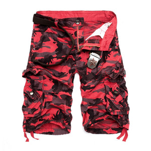 US Size 2019 New Camouflage Loose Cargo Shorts Men Cool Summer Military Camo Short Pants Homme Cargo Shorts - thefashionique