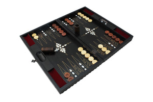 Personalized Backgammon Board Game Wooden Handmade Backgammon Set Gift for Father Gift for Grandfather and Christmas Party Games