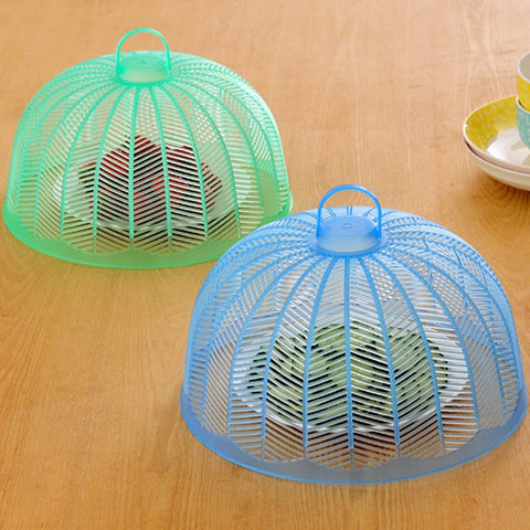 Umbrella Shape Food Covers Plastic Small Food Cover Picnic Barbecue Mosquito Net Tent Kitchen Table Accessories - thefashionique