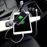 Universal 12V-24V 2-Way Auto Car Cigarette Lighter Socket Splitter Power Charger Adapter Dual USB Car Charger for iPhone Samsung