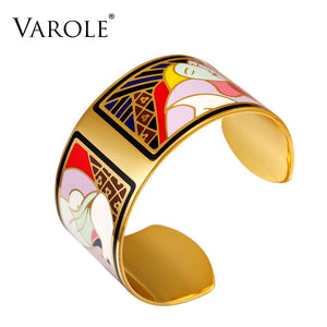 VAROLE Fashion Enamel Opening Bracelets&Bangles for Women Colorful Bracelet Cuff Love Pulseiras Feminina Gifts Pulsera - thefashionique
